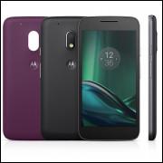 Smartphone Motorola Moto G4 Play DTV XT1603 Preto Dual Chip Android Marshmallow 4G Memória 16GB
